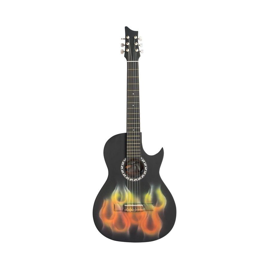 guitarra negra mate
